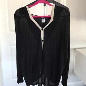 Black and cream sweater